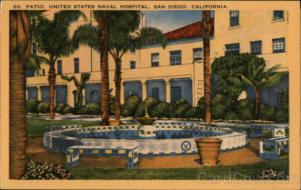 Patio at the United States Naval Hospital San Diego California