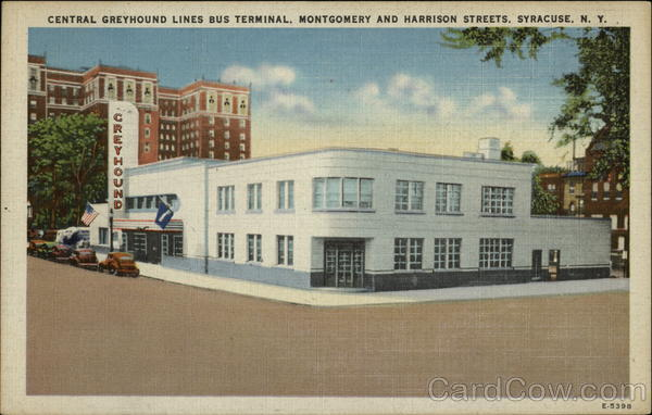 Central Greyhound Lines Bus Terminal Syracuse New York