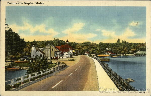 Entrance to Town Naples Maine