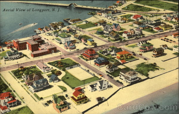 Aerial View of Longport New Jersey