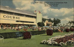 Gay, Colorful Scene at Gulfstream Park