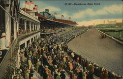 Hawthorne Race Track - View from Club House Postcard