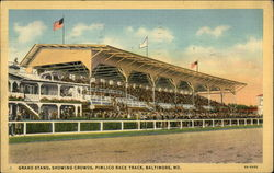 Grand Stand, Showing Crowds, Pimlico Race Track
