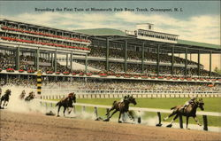Monmouth Park Race Course - Rounding the First Turn Postcard