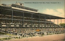 Monmouth Park Race Track - Grandstand Postcard