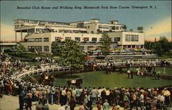Monmouth Park Race Course - Club House and Walking Ring Postcard