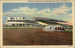 Rounding the First Turn at Narragansett Race Track