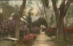 In Gardens of Picturesque Cherokee Lodge
