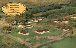 Aerial View Boy's Ranch, Old Tascosa Postcard