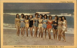 Some of Melbourne's Bathing Beauties at Melbourne Beach