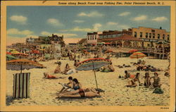 Beach Front from Fishing PIer Postcard