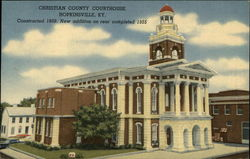Christian County Courthouse, Constructed 1869. New Addition on Rear Completed 1955