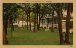 Sunset Lodge Postcard