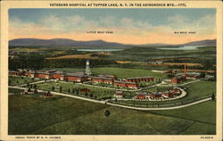 Veterans Hospital At Tupper Lake, N.Y. In The Adirondack Mts