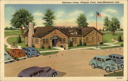 Entrance Lodge, Niagara Cave, Iowa-Minnesota Line Postcard