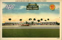 River Palms Hotel Court Postcard
