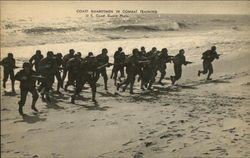 Coast Guardsmen In Combat Training