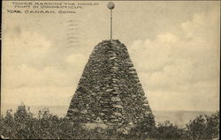 Tower Marking Highest Point In Connecticut Postcard