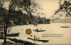 Webster Lake Park Bathing Beach, showing Daniell Point