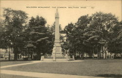 Soldiers' Monument, the Common
