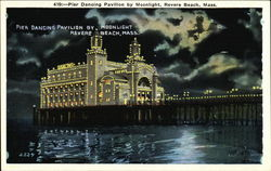 Pier Dancing Pavilion by Moonlight