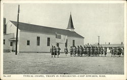 TYpical Chapel, Troops in Foreground