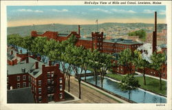 Bird's Eye View of Mills and Canal