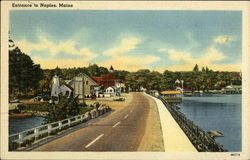 Entrance to Town Postcard