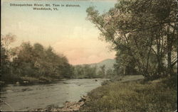 Ottauquechee River, Mt. Tom in Distance
