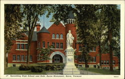 Spaulding High School and Robt. Burns Monument