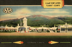 Camp Fort Lewis Tourist Courts Postcard
