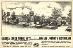 Gallery Court Motor Hotel Adjoining Howard Johnson's Restaurant