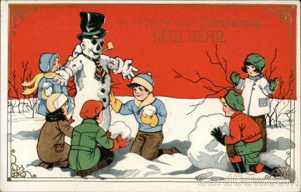 A Happy and Prosperous New Year Snowmen