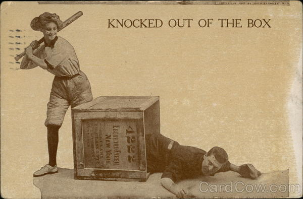Knocked Out of the Box - Baseball - Eberhard Faber Box