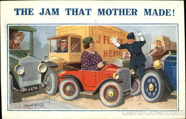 The Jam That Mother Made! Donald McGill Comic, Funny