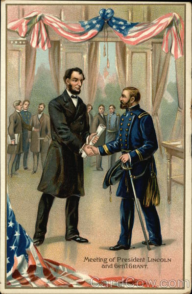 Meeting of President Lincoln and General Grant President's Day