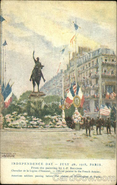 Independence Day - July 4th, 1918, Paris 4th of July