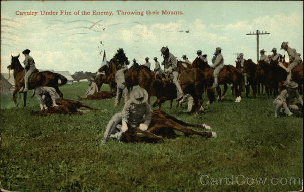 Cavalry Under Fire of the Enemy, Throwing Their Mounts