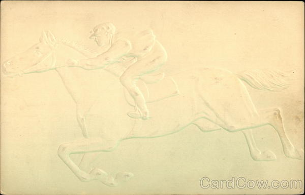 Jockey on Horse Airbrushed