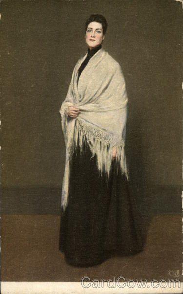 Lady with the White Shawl Art