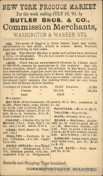 Butler Bros & Co. Commission Merchants Advertising