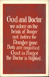 God and Doctor we Adore on the Brink of Danger not Before the Danger Gone