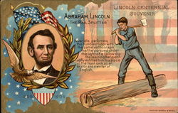 "Abraham Lincoln ""The Rail Splitter"" Postcard"