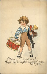 Merry Christmas! Hope he Brought Sumpin' Nice for You Postcard