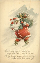 Santa with Bag of Toys Postcard