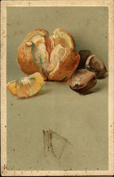 Still Life of Orange and Chestnuts