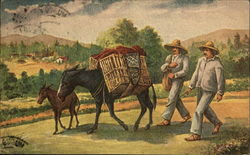 Farmers with Donkeys