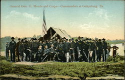 General Geo. G. Meade and Corps. - Commanders At Gettysburg, Pa