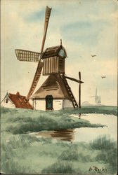 Watercolor of Windmill