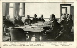 1905 The Peace Envoys of Japan and Russia at Portsmouth Navy Yard